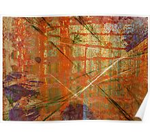 Rusted Orange and Purple Grunge Poster
