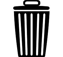 Trash Can Photographic Print