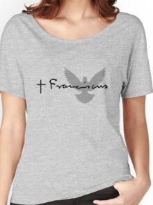 Pope Francis Signature Dove Women's Relaxed Fit T-Shirt