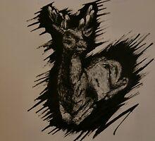 Black deer. by Lianne Oost