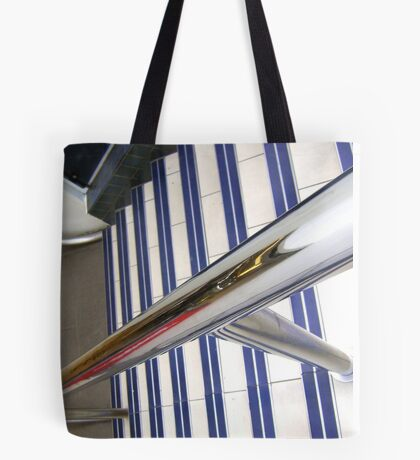 Abstract, stairs & rail Tote Bag