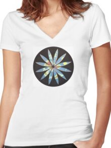 Jerusalem centred  Women's Fitted V-Neck T-Shirt
