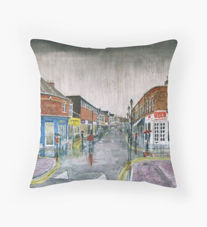 """One of Those Days!"" - Burnham-on-Sea High Street Throw Pillow"