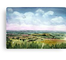 """Mewing Buzzards"" - Neroche Forest, Blackdowns, Somerset Canvas Print"