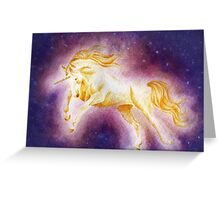 Sun Unicorn (Ballpoint Pen+Watercolor Painting) Greeting Card