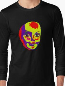 Psychedelic Mannequin Head Long Sleeve T-Shirt