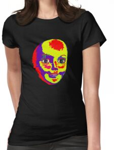 Psychedelic Mannequin Head Womens Fitted T-Shirt