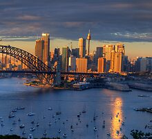 Kissed - Sydney Harbour, Sydney Australia (30 Exposure HDR Panorama)- The HDR Experience by Philip Johnson