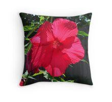 Hibiscus square crop Throw Pillow
