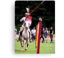 There they are the jousting knights! Canvas Print
