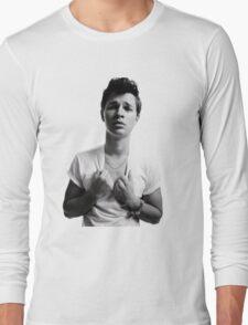 Ansel Elgort - Black & White Long Sleeve T-Shirt