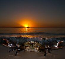 Sunset on Fraser Island by JSumpton