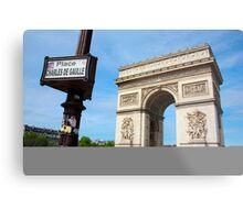 Place Charles De Gaulle - Arc De Triomphe Metal Print