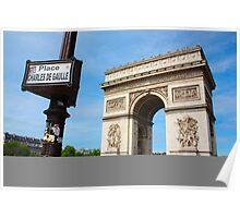 Place Charles De Gaulle - Arc De Triomphe Poster