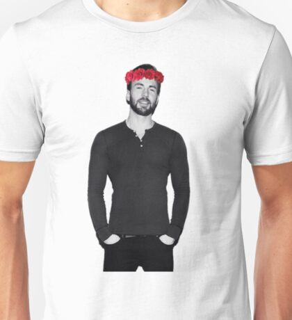Chris Evans - Flowercrown Unisex T-Shirt