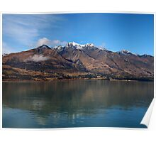 Lake Wakitipu looking to Walter Peak Poster