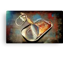 A Can Of Sardines Canvas Print