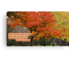 Autumn Haiku Canvas Print