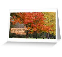Autumn Haiku Greeting Card