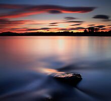 Sunset River Tay by Angus Clyne