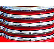 Street Rod Art: Hot Red, Chrome & Clouds  Photographic Print
