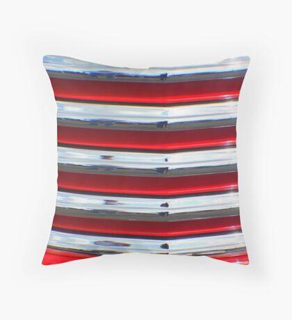 Street Rod Art: Hot Red, Chrome & Clouds  Throw Pillow