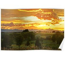 Glow Of The Colorado Countryside Poster