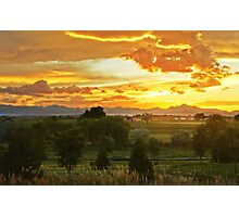 Glow Of The Colorado Countryside Photographic Print