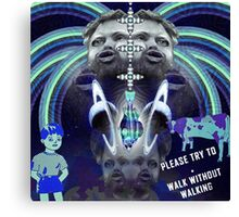 Please Try To (blue) Canvas Print