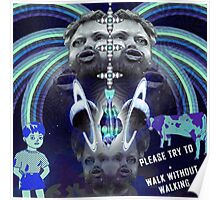 Please Try To (blue) Poster