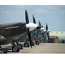 Spitfires at Duxford , Cambridgeshire Photographic Print