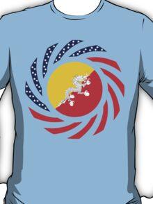 Bhutanese American Multinational Patriot Flag Series T-Shirt
