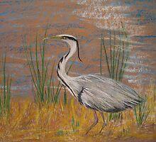 Heron by Linda Ridpath