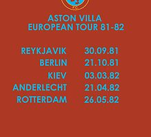 Aston Villa European Cup Tour 1982 by twentyfourhours