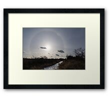 Sun Halo - a Beautiful Optical Phenomenon in the Winter Sky Framed Print