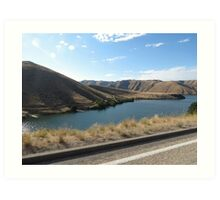Lucky Peak, Idaho..Famous boating and summer fun place. AS IS Art Print
