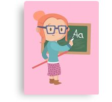 Cute School Teacher Design Canvas Print