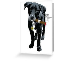 Smokin' Staffie Cross Greeting Card