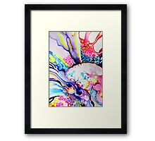 Infinite Flare - Watercolor Painting Framed Print