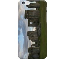 Stonehenge with a cloudy Sky iPhone Case/Skin