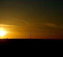 Sunset Windmill by Tom Bosley