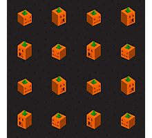Angry Square Pumpkins Photographic Print
