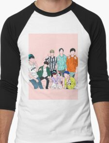 bangtan dope lineart Men's Baseball ¾ T-Shirt