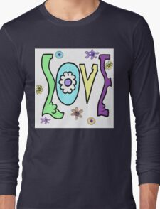 Psychedelic LOVE-Cooltones Long Sleeve T-Shirt