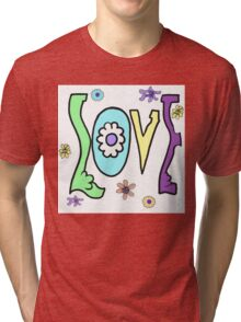 Psychedelic LOVE-Cooltones Tri-blend T-Shirt