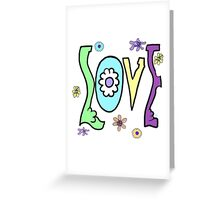Psychedelic LOVE-Cooltones Greeting Card