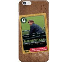 Moneyball Movie Poster Card iPhone Case/Skin