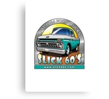 Slick 60's - Caribbean Turquoise Canvas Print