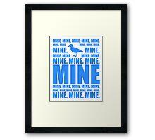 Mine in blue Framed Print