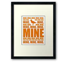 Mine in orange Framed Print